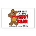 Big Teddy Bear Sticker (Rectangle)