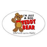 Big Teddy Bear Sticker (Oval)