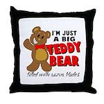 Big Teddy Bear Throw Pillow
