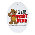 Big Teddy Bear Ornament (Oval)