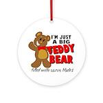 Big Teddy Bear Ornament (Round)