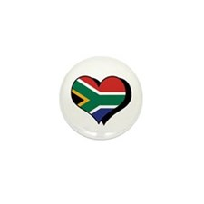 I Love South Africa Mini Button (100 pack)