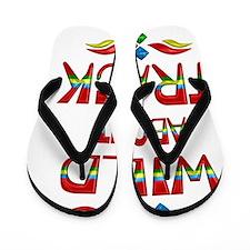 Wild About Track Flip Flops