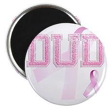 DUD initials, Pink Ribbon, Magnet