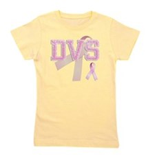DVS initials, Pink Ribbon, Girl's Tee