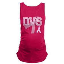 DVS initials, Pink Ribbon, Maternity Tank Top