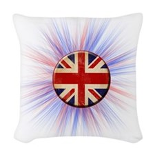 British Flag Woven Throw Pillow