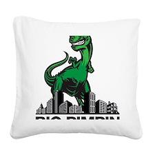 godzilla Square Canvas Pillow