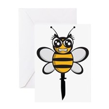bee knife-stinger Greeting Card