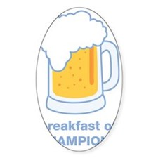 beer for breakfast Decal
