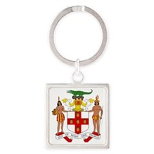 Jamaica  Coat of Arms Square Keychain
