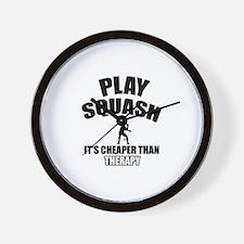 squash cheaper than therapy Wall Clock