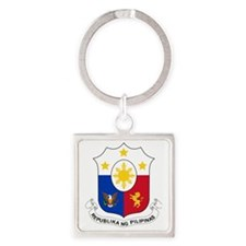 Philippines  Coat of Arms Square Keychain