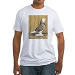 Brown Check Bald West Fitted T-Shirt