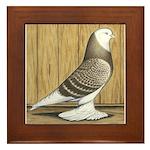 Brown Check Bald West Framed Tile