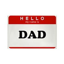 Name Badge - Dad Rectangle Magnet