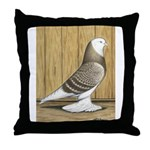 Brown Check Bald West Throw Pillow