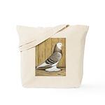 Brown Check Bald West Tote Bag