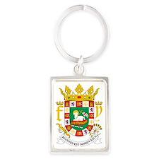Puerto Rico  Coat of Arms Portrait Keychain