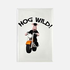 Hog Wild Road Hog Rectangle Magnet