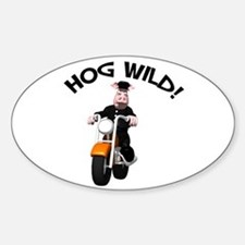 Hog Wild Road Hog Oval Decal