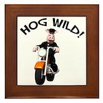 Hog Wild Road Hog Framed Tile