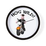 Hog Wild Road Hog Wall Clock