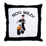 Hog Wild Road Hog Throw Pillow