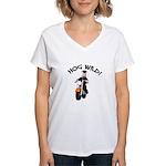 Hog Wild Road Hog Women's V-Neck T-Shirt