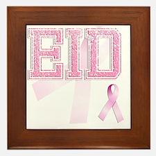 EID initials, Pink Ribbon, Framed Tile