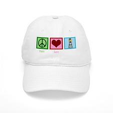 peacelovelifeguardwh Baseball Cap