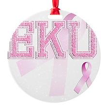 EKU initials, Pink Ribbon, Ornament