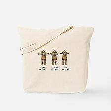 Hear No Evil Monkeys Tote Bag