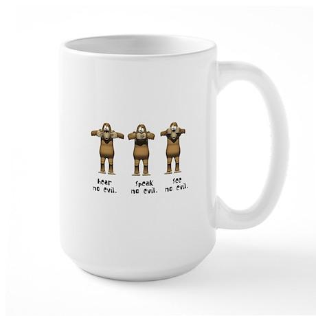 Hear No Evil Monkeys Large Mug