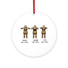 Hear No Evil Monkeys Ornament (Round)