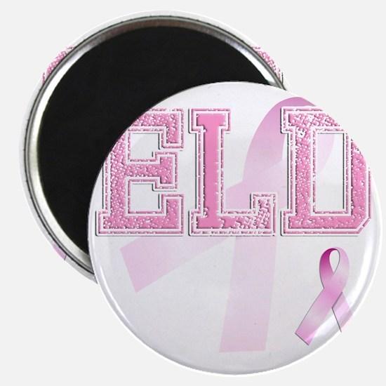 ELD initials, Pink Ribbon, Magnet