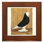 Black Bald West Framed Tile
