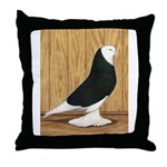 Black Bald West Throw Pillow