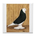 Black Bald West Tile Coaster