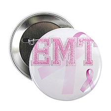 "EMT initials, Pink Ribbon, 2.25"" Button"