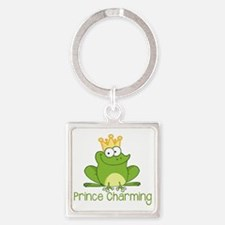 Prince Charming Square Keychain