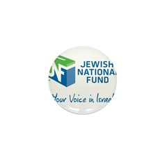 JNF logo your voice in Israel Mini Button
