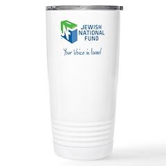 JNF logo your voice in Israel Travel Mug