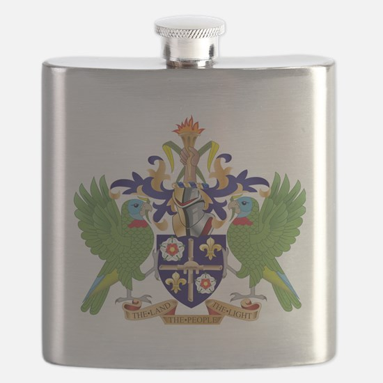 Saint Lucia  Coat of Arms Flask