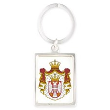 Serbia  Coat of Arms Portrait Keychain