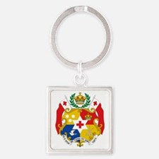 Tonga  Coat of Arms Square Keychain