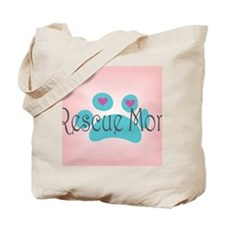 Rescue Mom with hearts and background Tote Bag