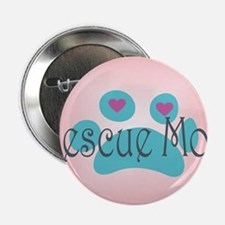 """Rescue Mom with hearts and background 2.25"""" Button"""