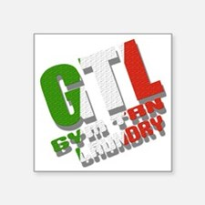 "GTL Gym Tan Laundry Jersey  Square Sticker 3"" x 3"""