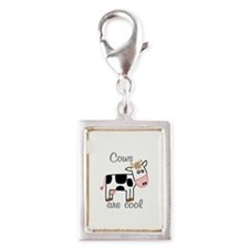 Cows are Cool Silver Portrait Charm